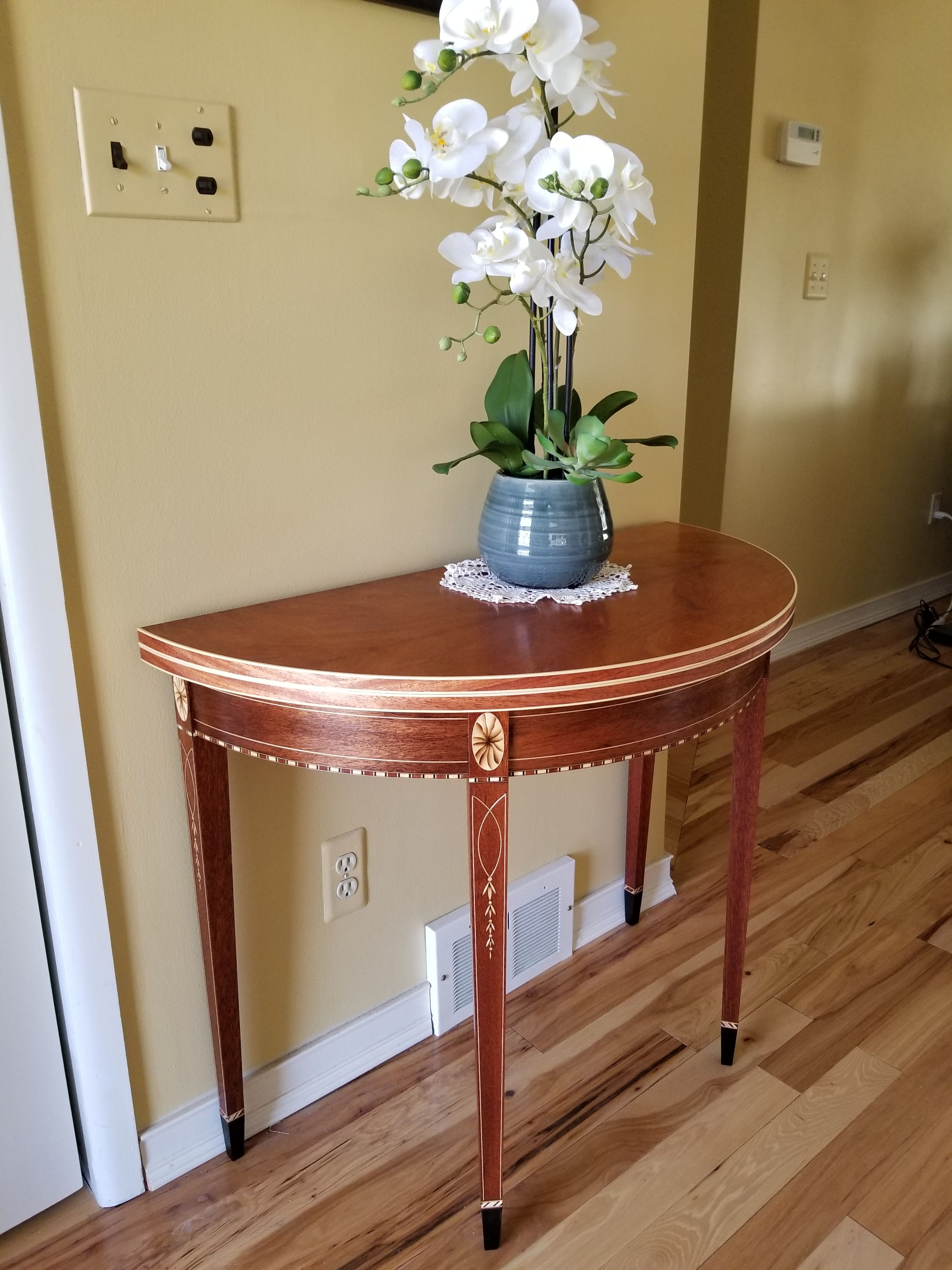 Federal Style Demi-lune Card Table.