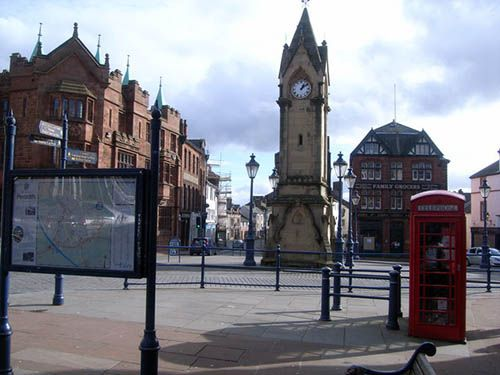 Market Square in Penrith © Geograph.co.uk. Nick Mutton