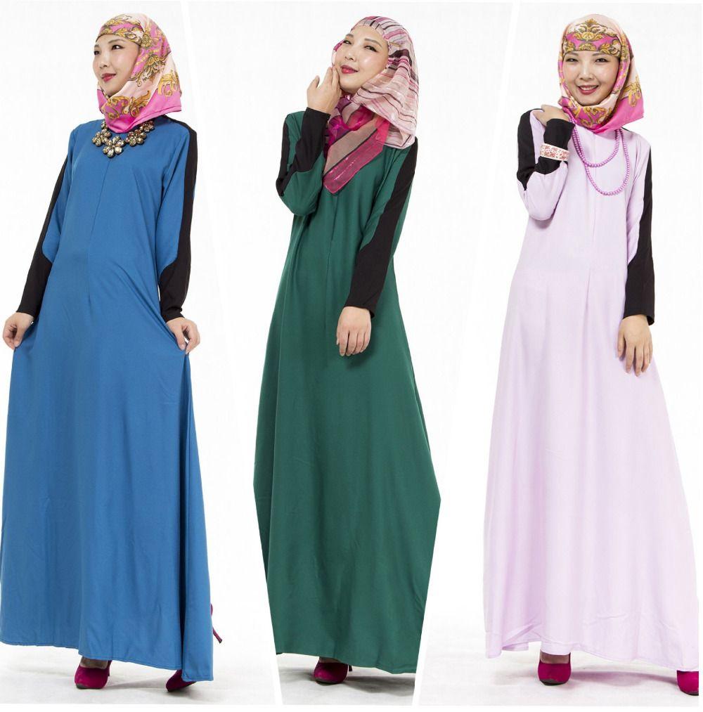 2016 Muslim Abaya Dress Islamic Clothes Kaftan Jilbabs and Abayas ...