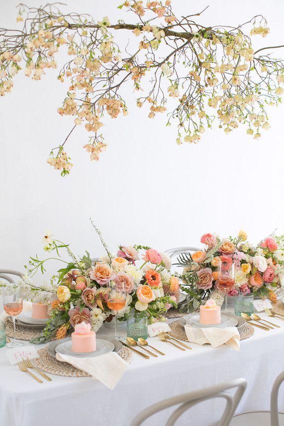 096d595225b4 Blush floral bridal shower inspiration   celebrate   Wedding ...