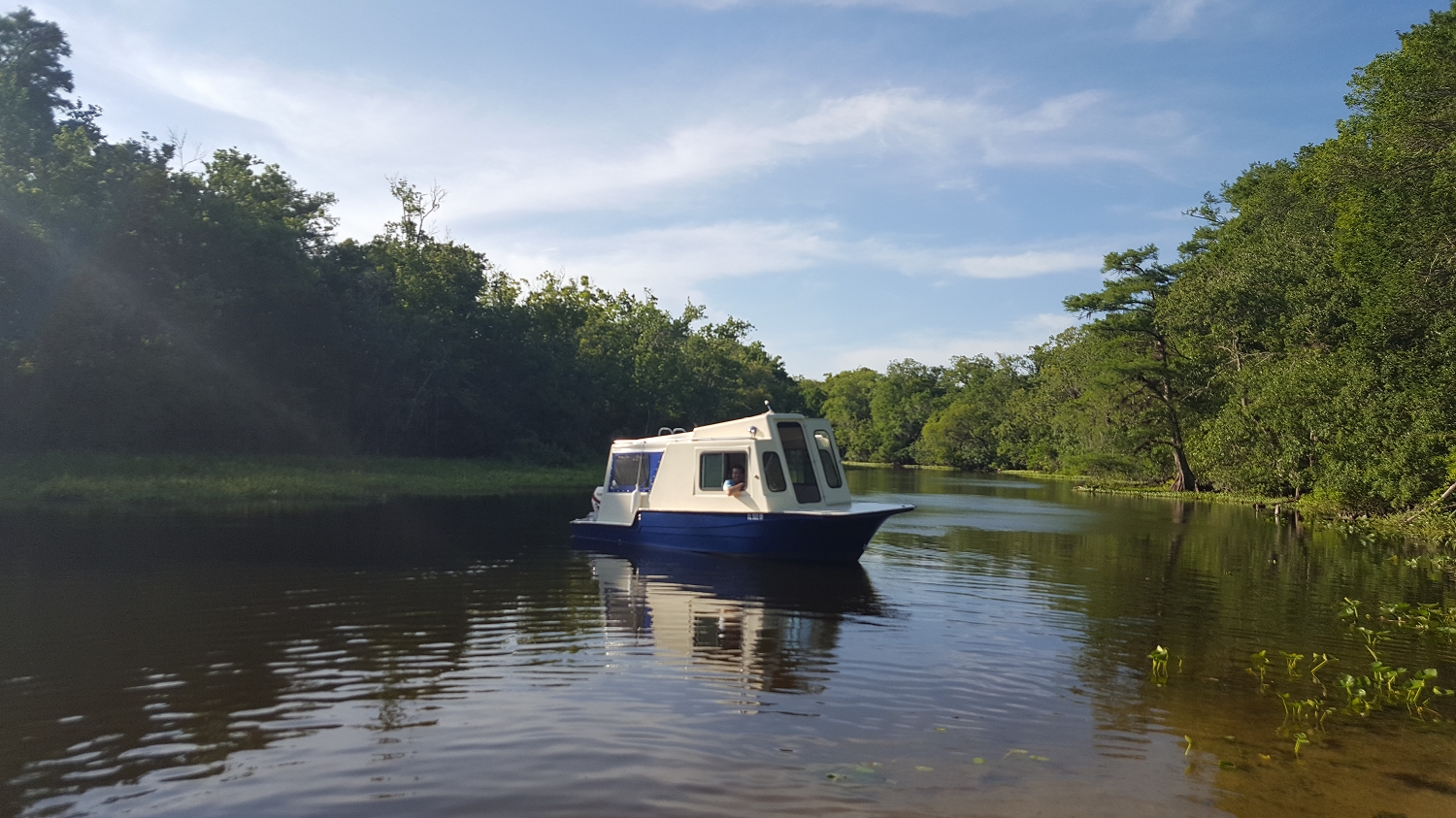 Tiny Houseboat Adventures On The St John S River In