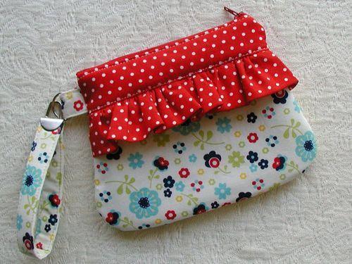 cute bag with ruffles