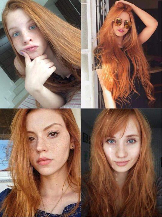 Redhead facial queens