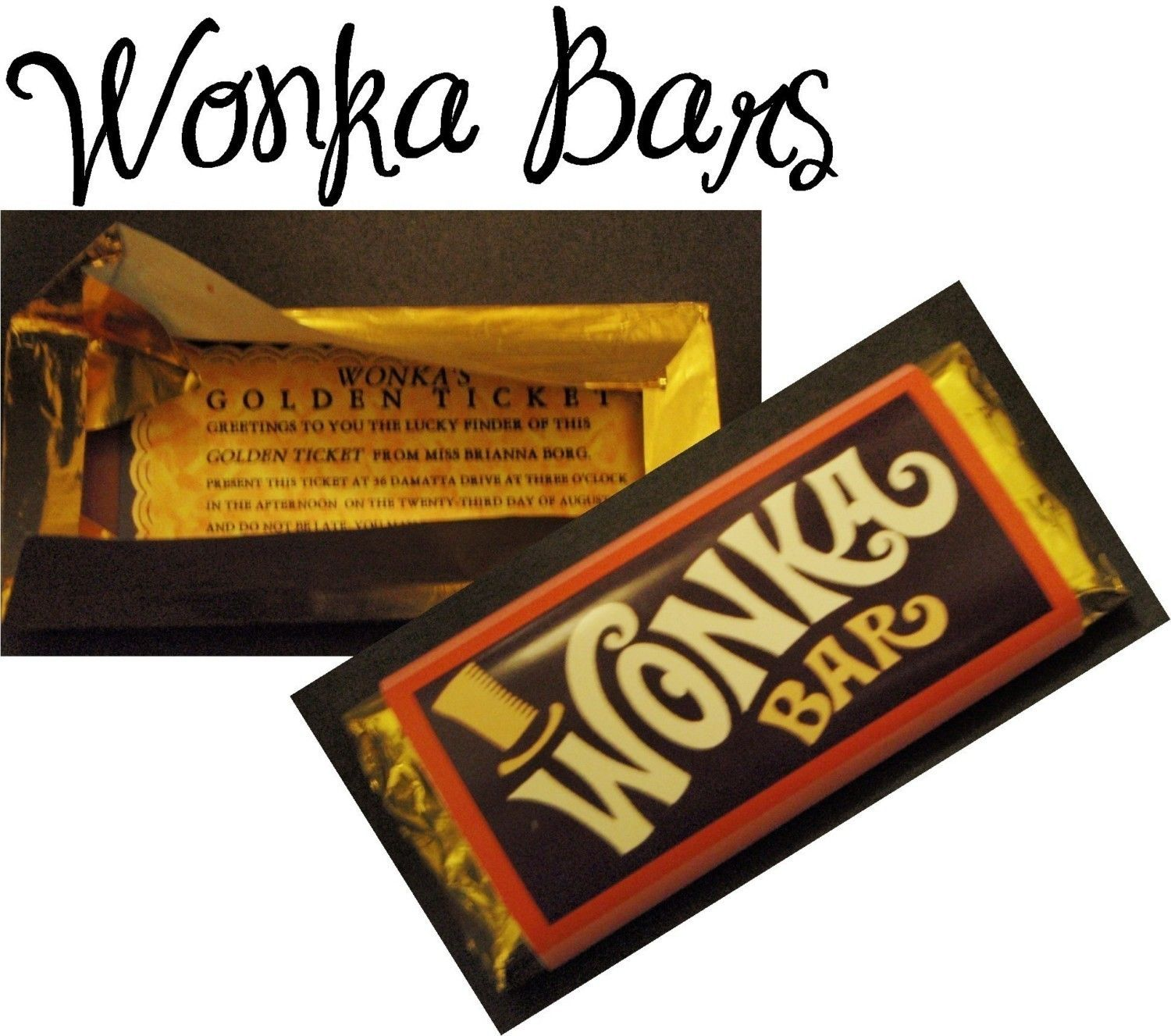 Custom Willy Wonka Bar Golden Ticket Party by CustomPartyPlace ...