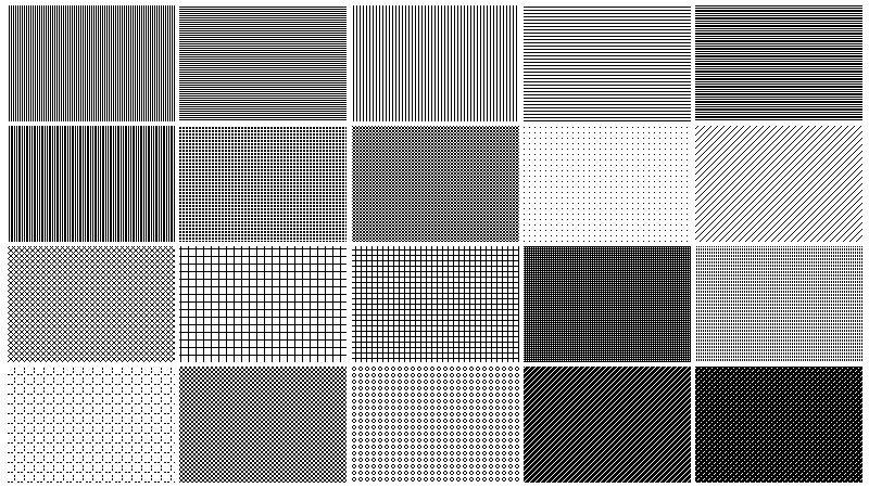 Freebie Free Pixel Patterns For Transparencies In Photoshop