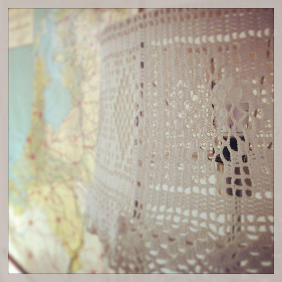 Gehaakte lampenkap / Crochet lampshade | Dingen die ik leuk vind ...