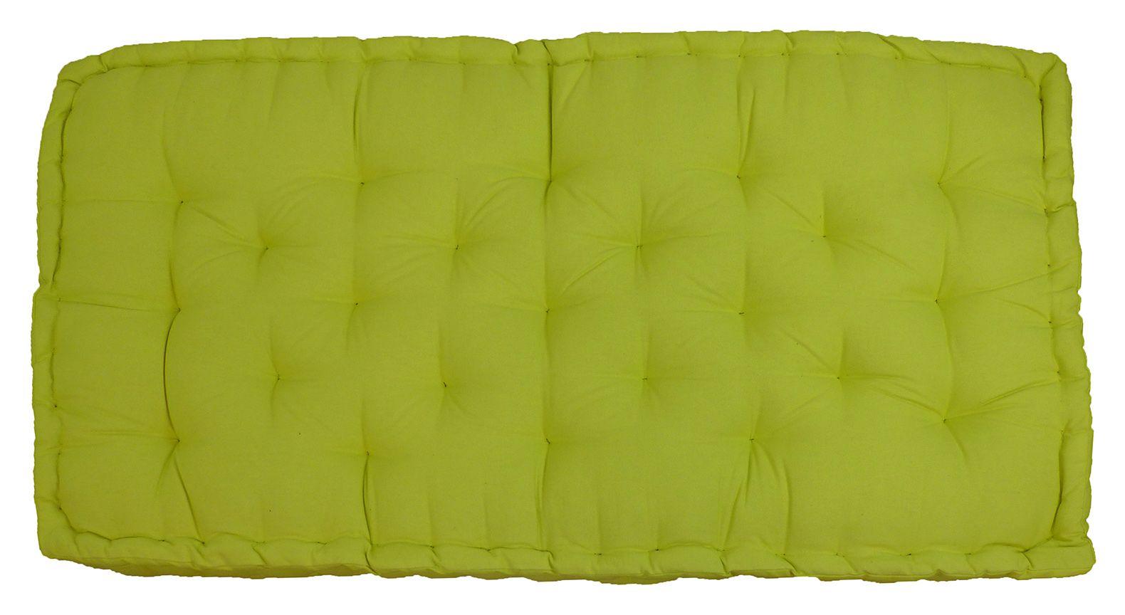 Coussin De Palette En Coton Colore 120 Cm Vert Anis Palette120coton Vra