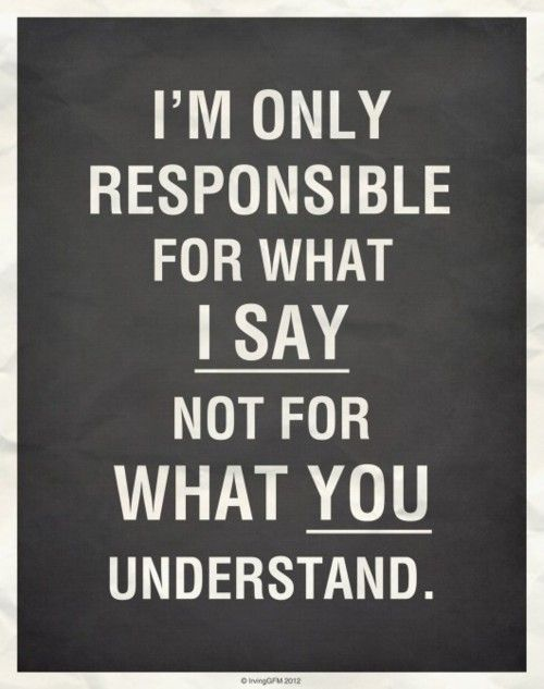 say vs understand
