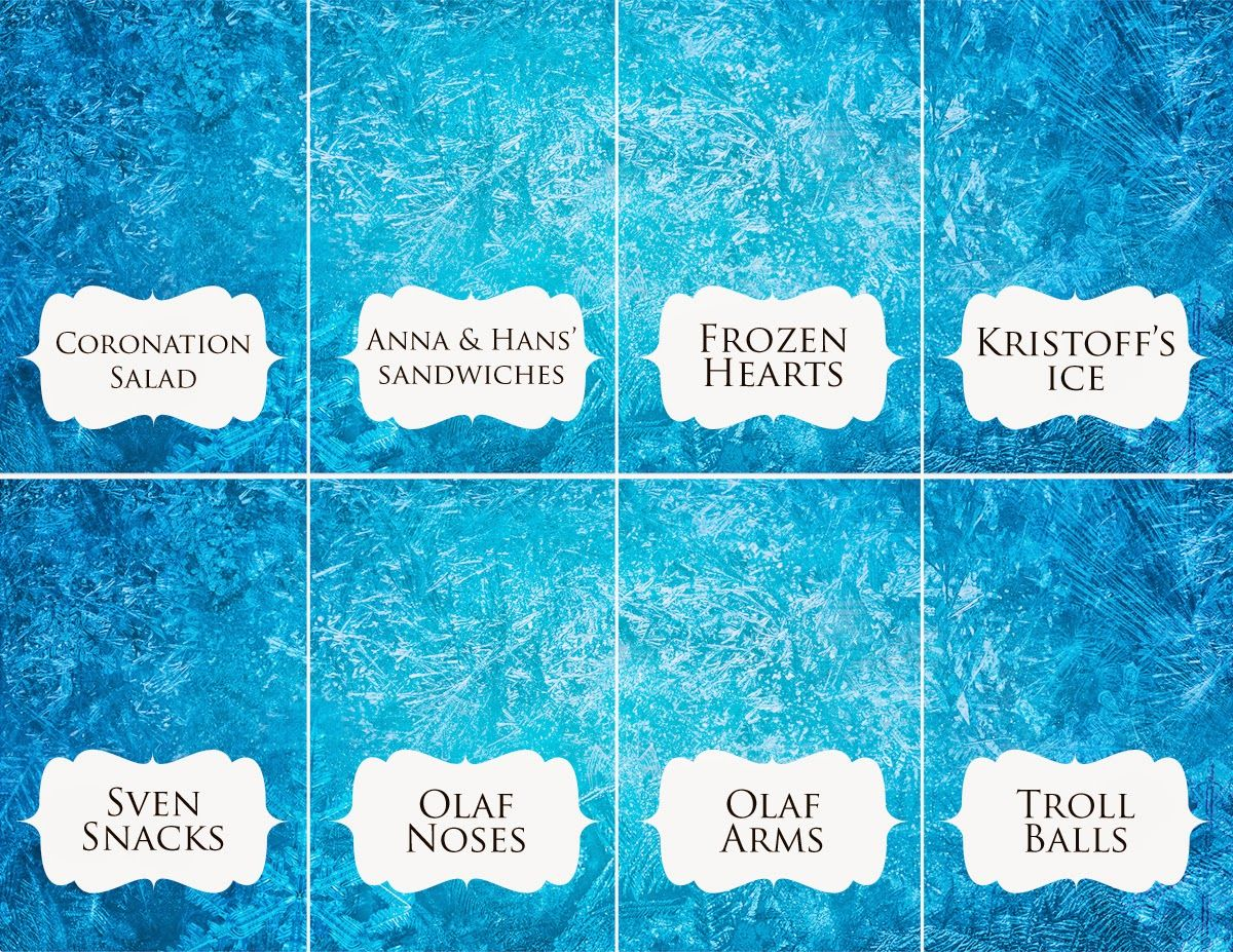 Download: Disney Frozen Food Place Cards | Pinterest | Disney frozen ...