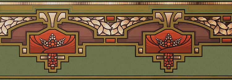 Bradbury Arts & Crafts Style Design Arcadia Wallpaper