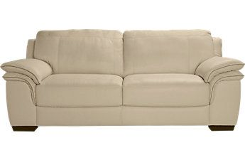 Cindy Crawford Home Grand Palazzo Beige Leather Sofa