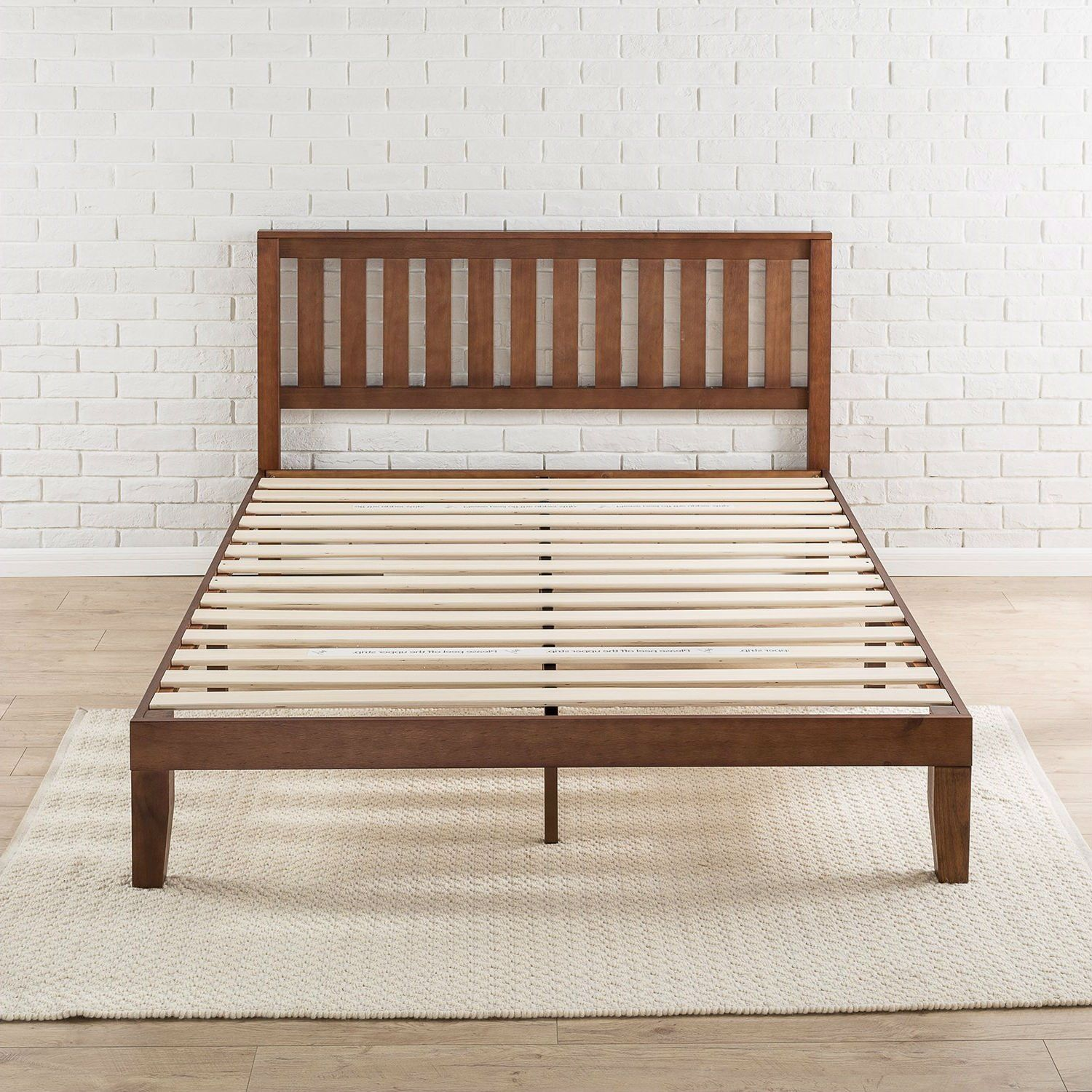 Queen Size Mission Style Solid Wood Platform Bed Frame With