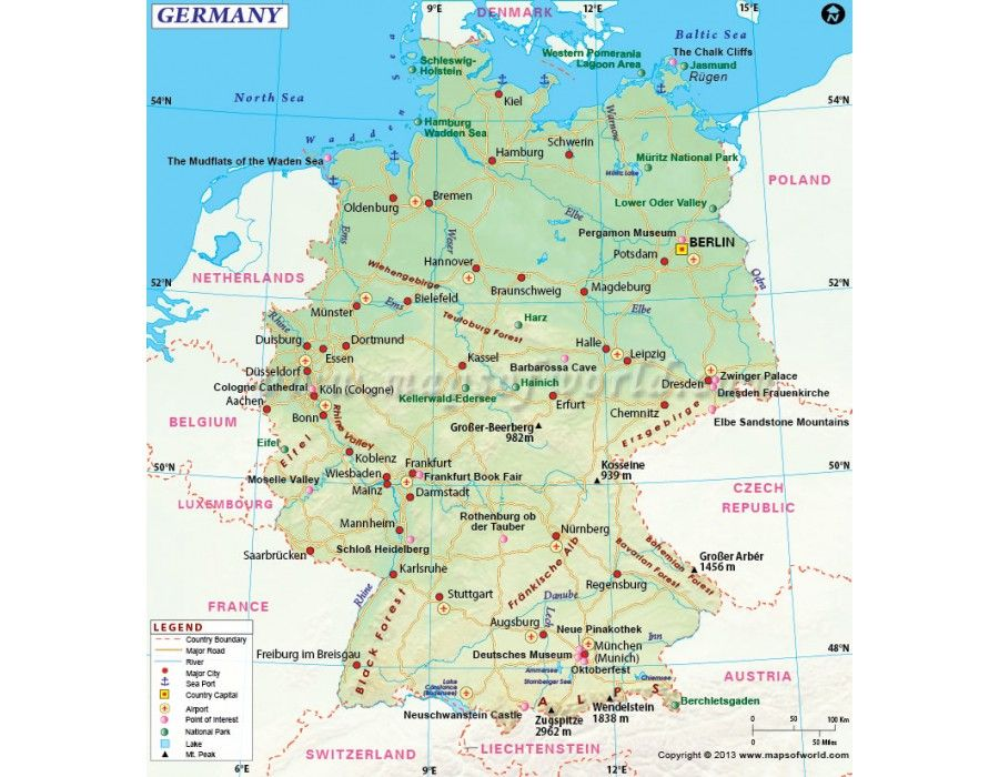 Buy Germany Map Country Maps Ireland Map Map