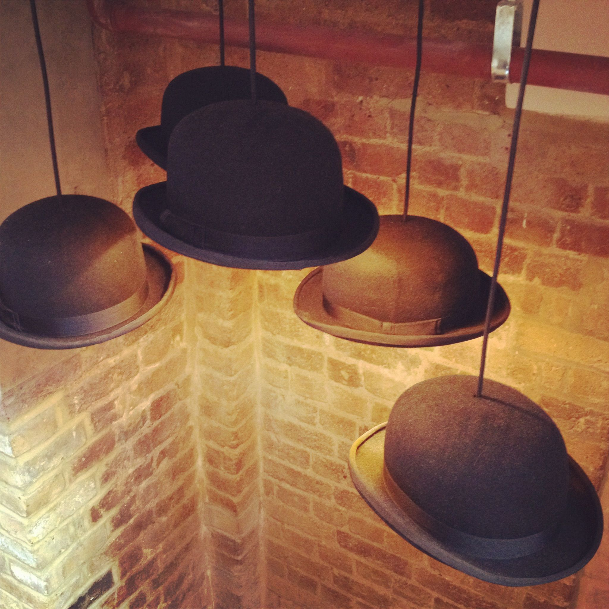 Bowler hat lamp shades i want this in my home pinterest bowler bowler hat lamp shades aloadofball Choice Image