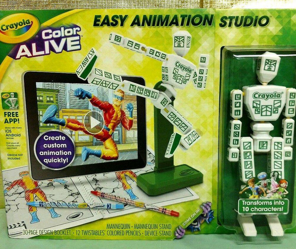 Crayola Color Alive Easy Animation Studio Mannequin Brand