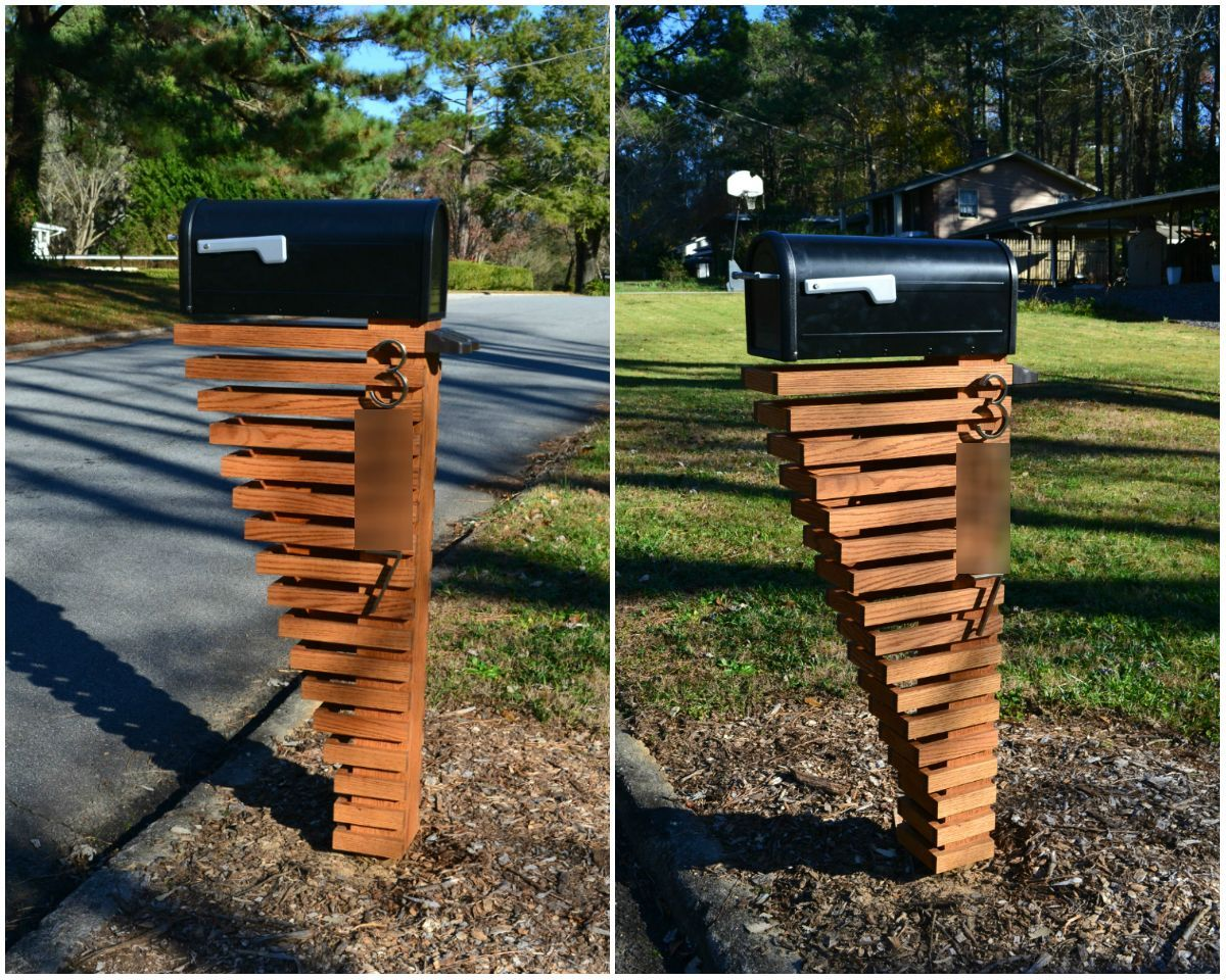 Mod mailbox post mailbox post album and mail boxes for Best mailbox design