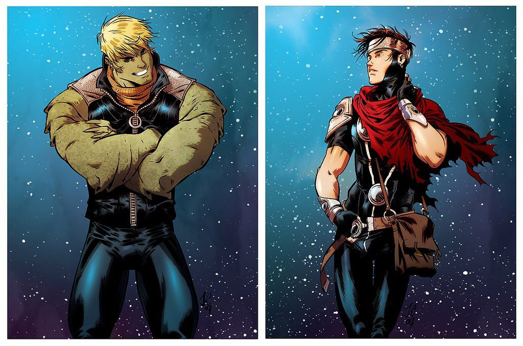 Hulkling and Wiccan by Jacopo Camagni #JacopoCamagni #dronio ...