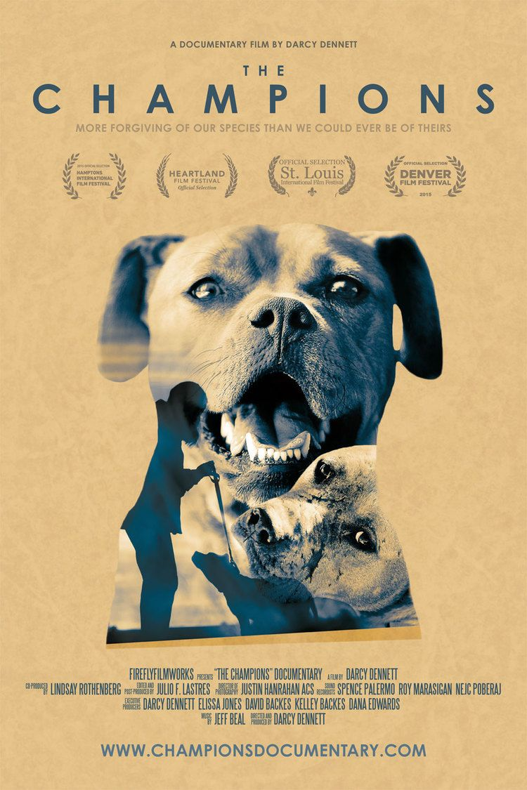 movie poster the champions documentary about the watch the champions online all odds were stacked against the pit bulls rescued from quarterback michael vick s dogfighting ring forced to fight for their