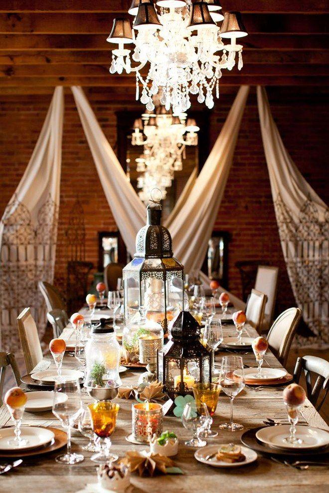 40 inspirations déco pour un mariage marocain repérées sur pinterest bohemian weddingscandle holdersla turquoiserobes fluideswedding decorbohemian