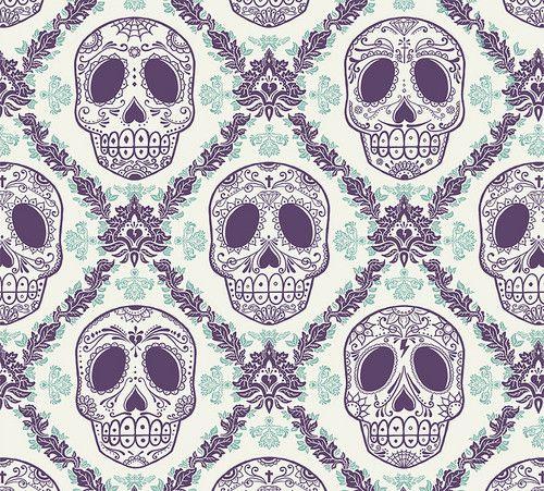 Log In Skull Wallpaper Skull Pattern
