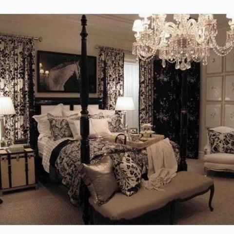 Black And Cream Bedroom Decorating Ideas from i.pinimg.com