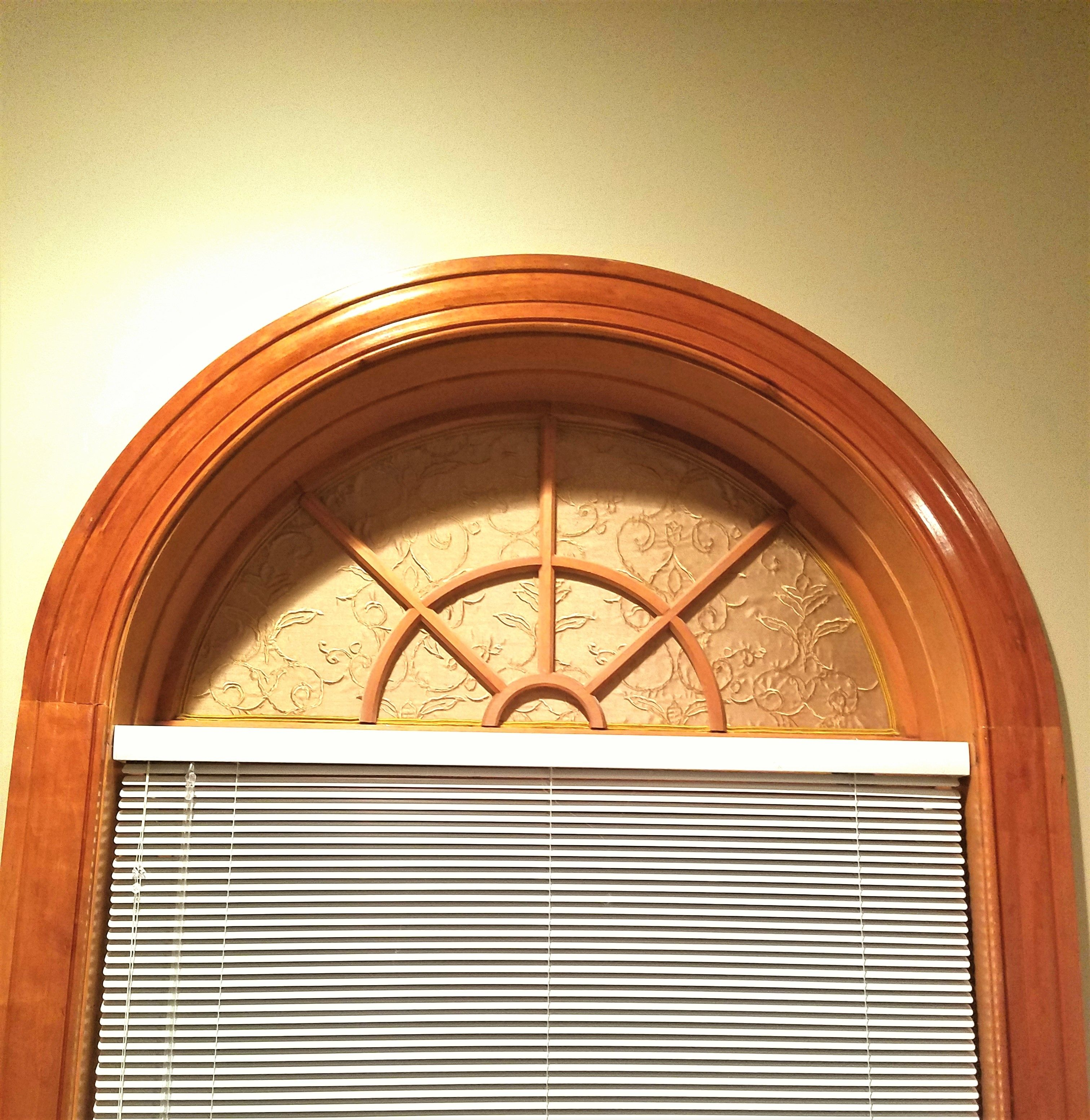 DIY Blackout Arch Window Shade | Arched windows, Stair ...