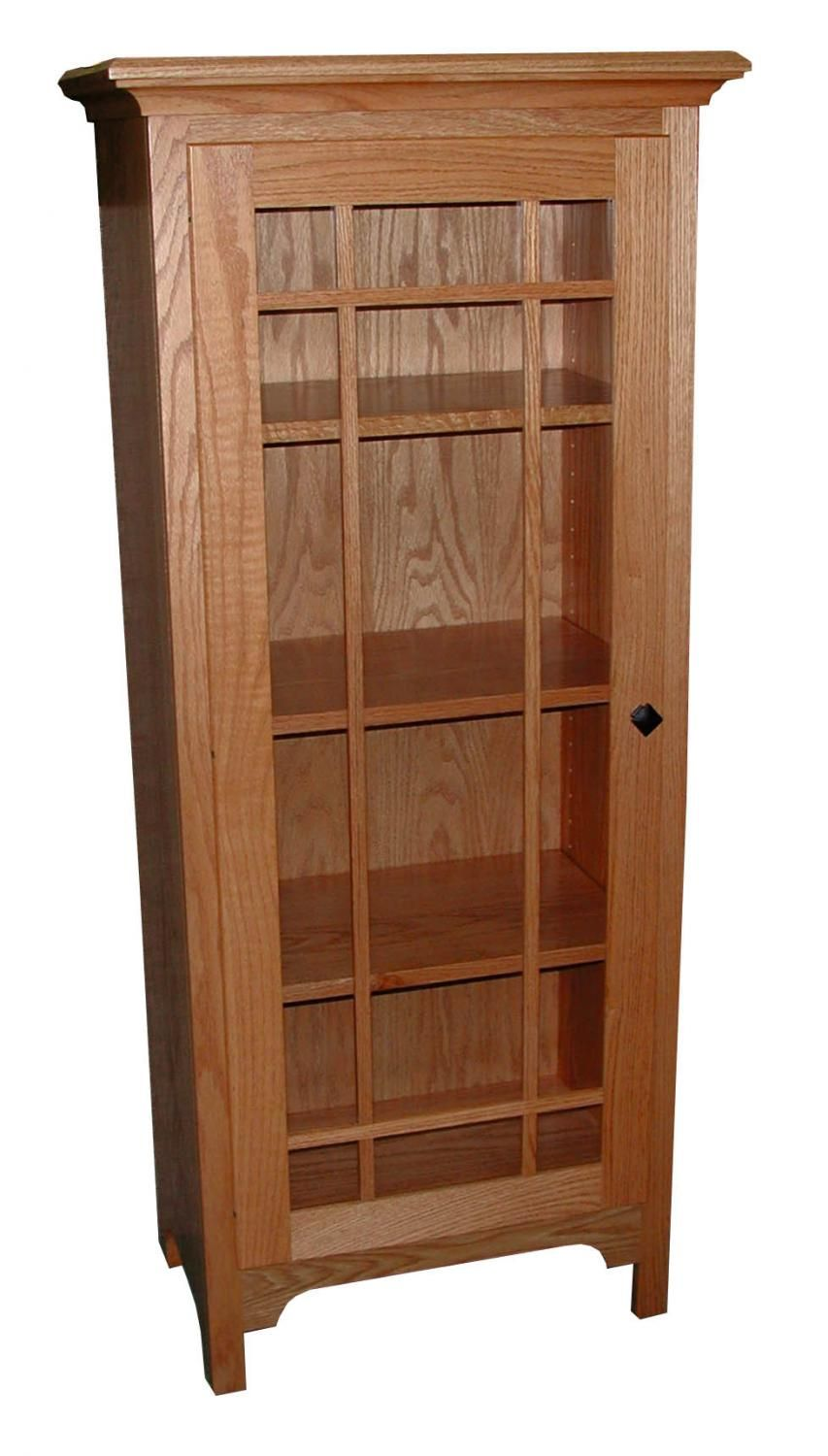 Jakeu0027s Amish Furniture   Small Shaker Bookcase With Glass Door