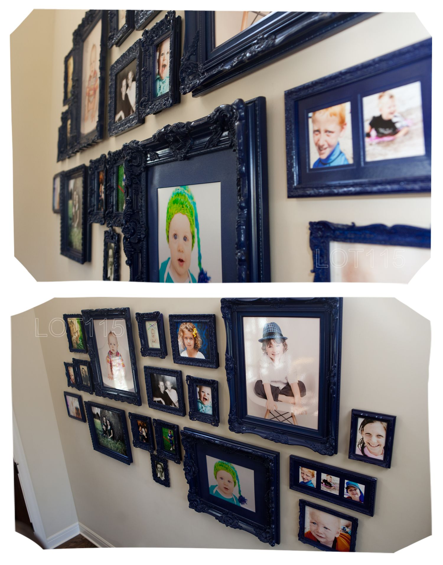 Photo Wall Picture Arrangements Different Frames Painted The