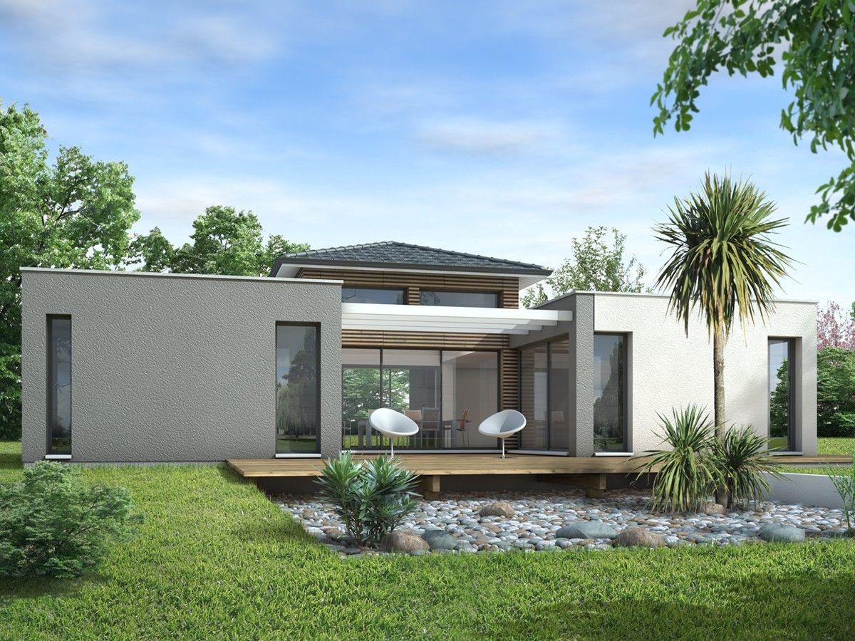 Plan Maison Cubique De Plain Pied Ooreka 1