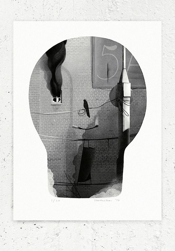 The Screaming House on Behance