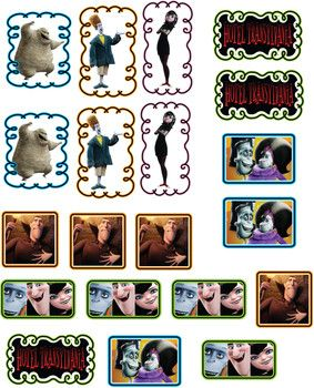 PERSONALISED STICKERS LABELS PARTY BAGS SWEET CONES HOTEL TRANSYLVANIA SUMMER #2