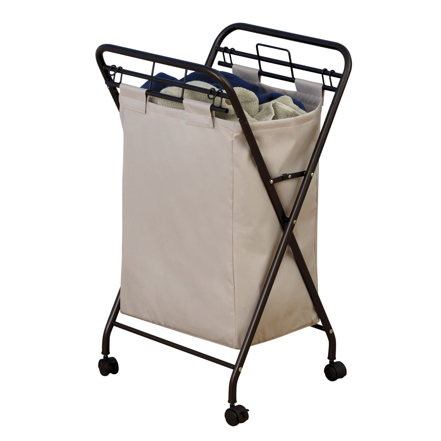 Household Essentials Rolling Laundry Hamper Essentials Household Rolling Hamper Laundry Hamper Hamper Canvas Laundry Bag