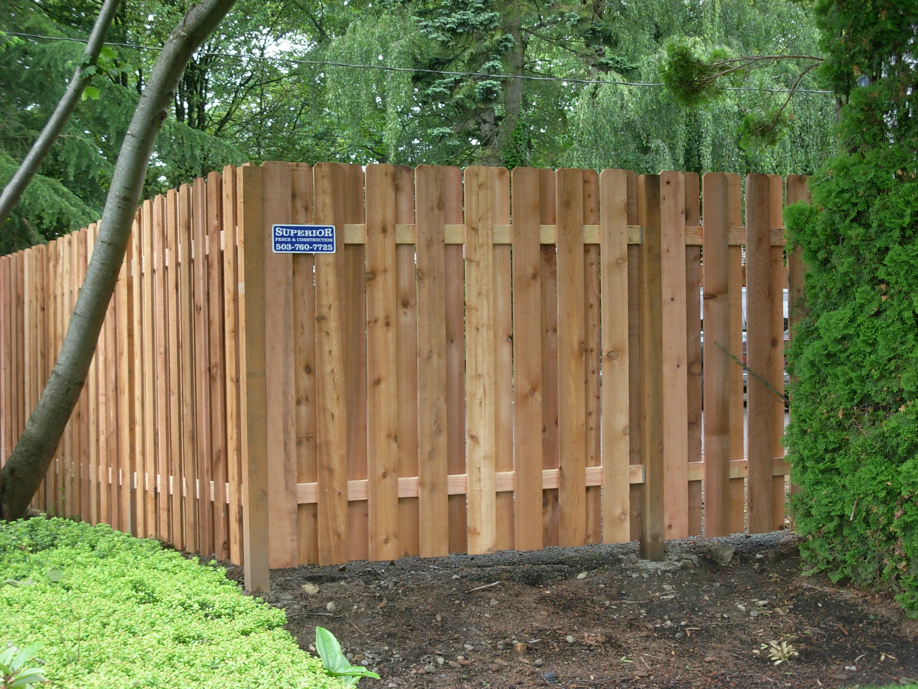 Alternating Boards Wood Fence 503 760 7725 Good