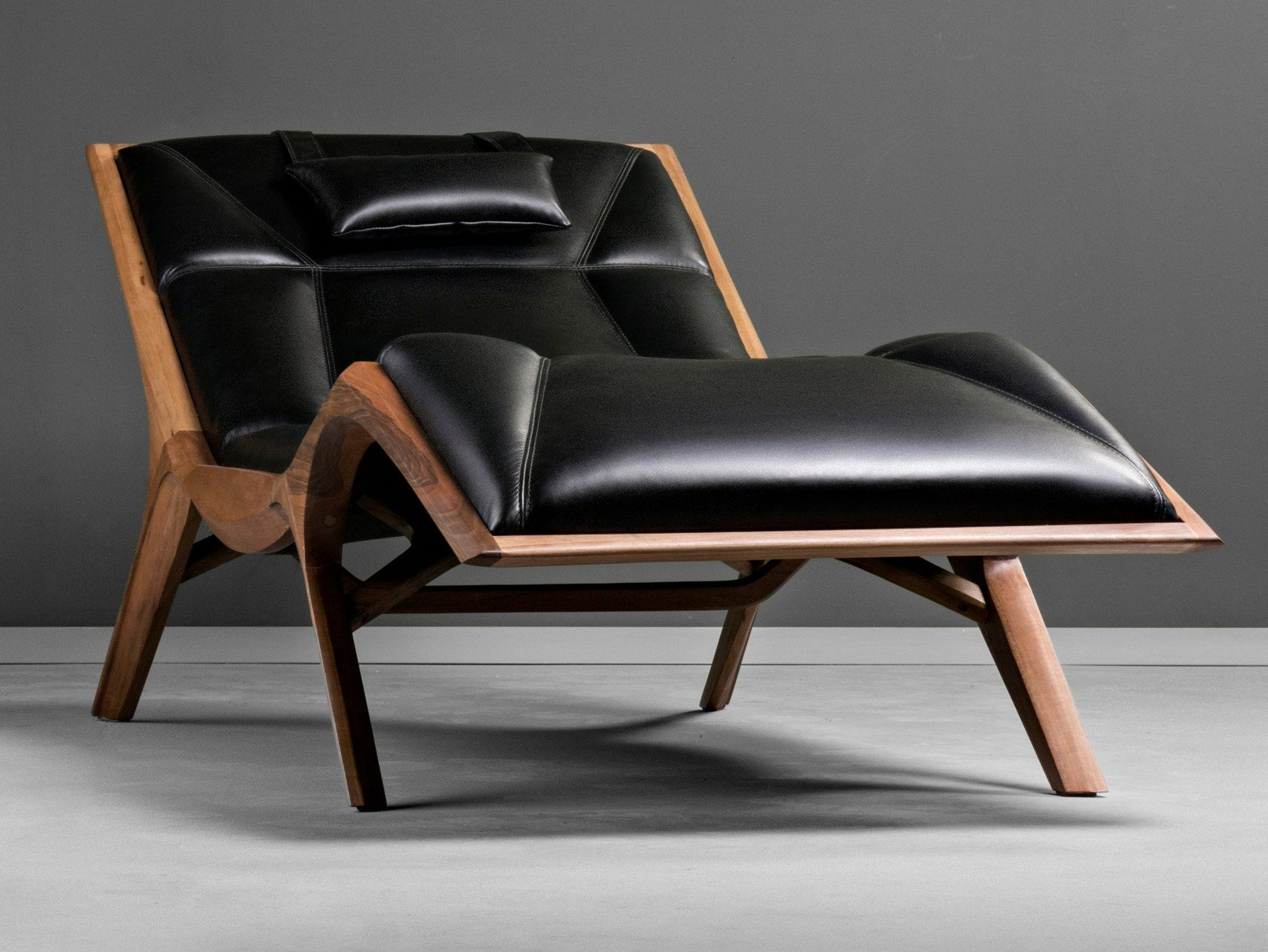Upholstered Leather Chaise Longue Insekt By Hookl Und Stool Design Aleksandar Ugresic In 2020 Leather Chaise Luxury Couch Leather Furniture