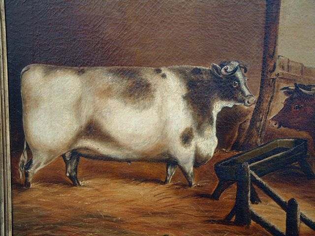 Price My Item Value Of Antique English Oil Painting Of Two Cows Cow Art Louisiana Art Cow Painting