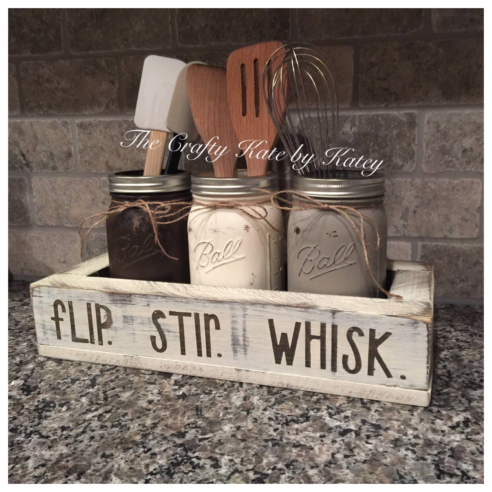 utensil holder kitchen utensil holder flip stir whisk farmhouse kitchen decor farmhouse on farmhouse kitchen utensils id=61710