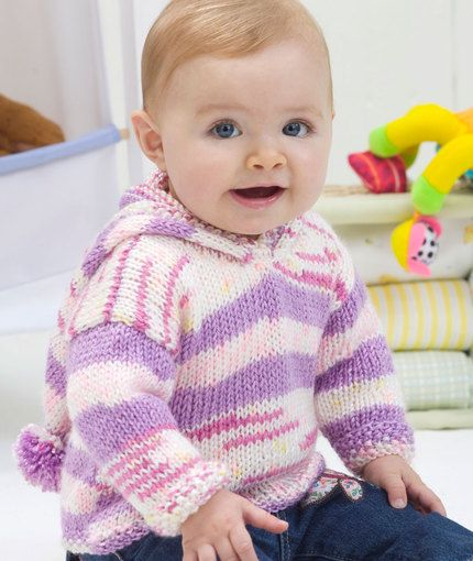 First Steps Hoodie Knitting Pattern Red Heart Knitting Patterns