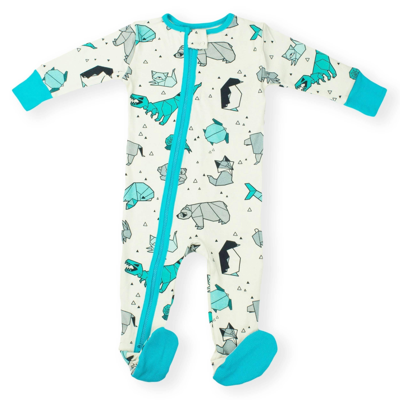 00a44bc069da Organic Baby Zipper Sleeper Pajamas 2-way Zip  Origami Grey ...