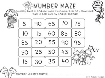 Skip Counting Number Mazes {Counting by 5s and 10s} | Pinterest