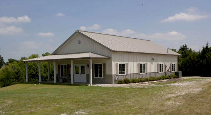 Ideal 30 x 50 Metal Building Home w/ Wrap-around Porch (HQ ...