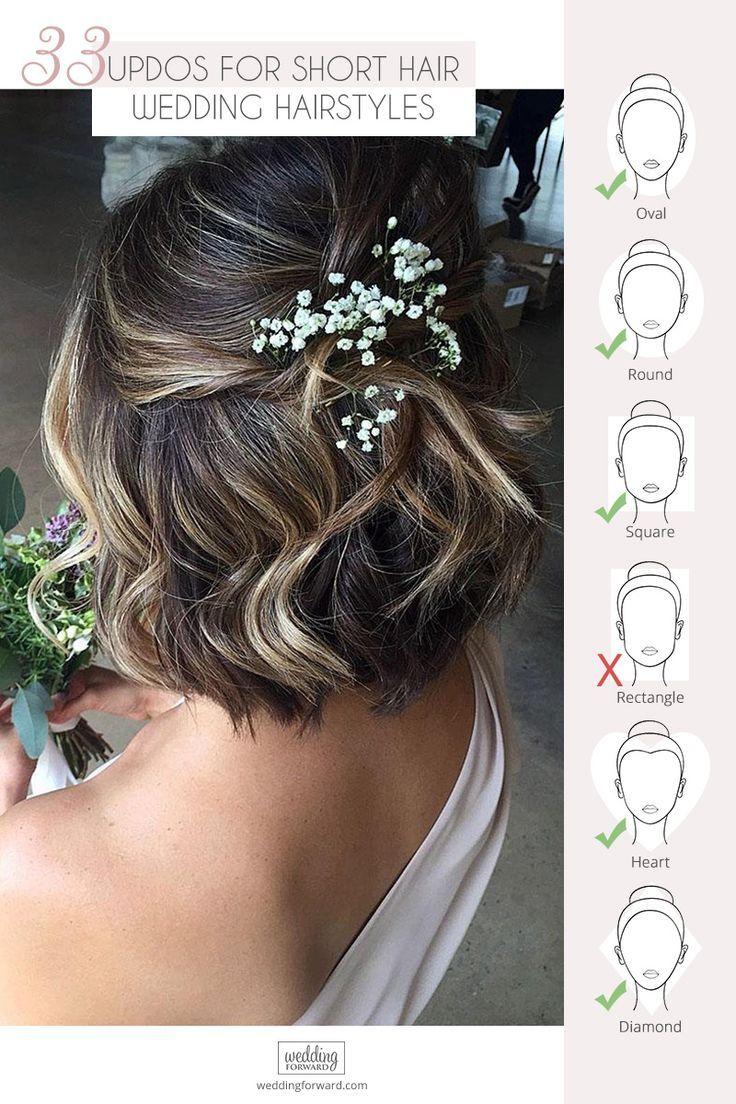 Inspiration For Wedding Updos For Short Hair Length   Wedding Forward