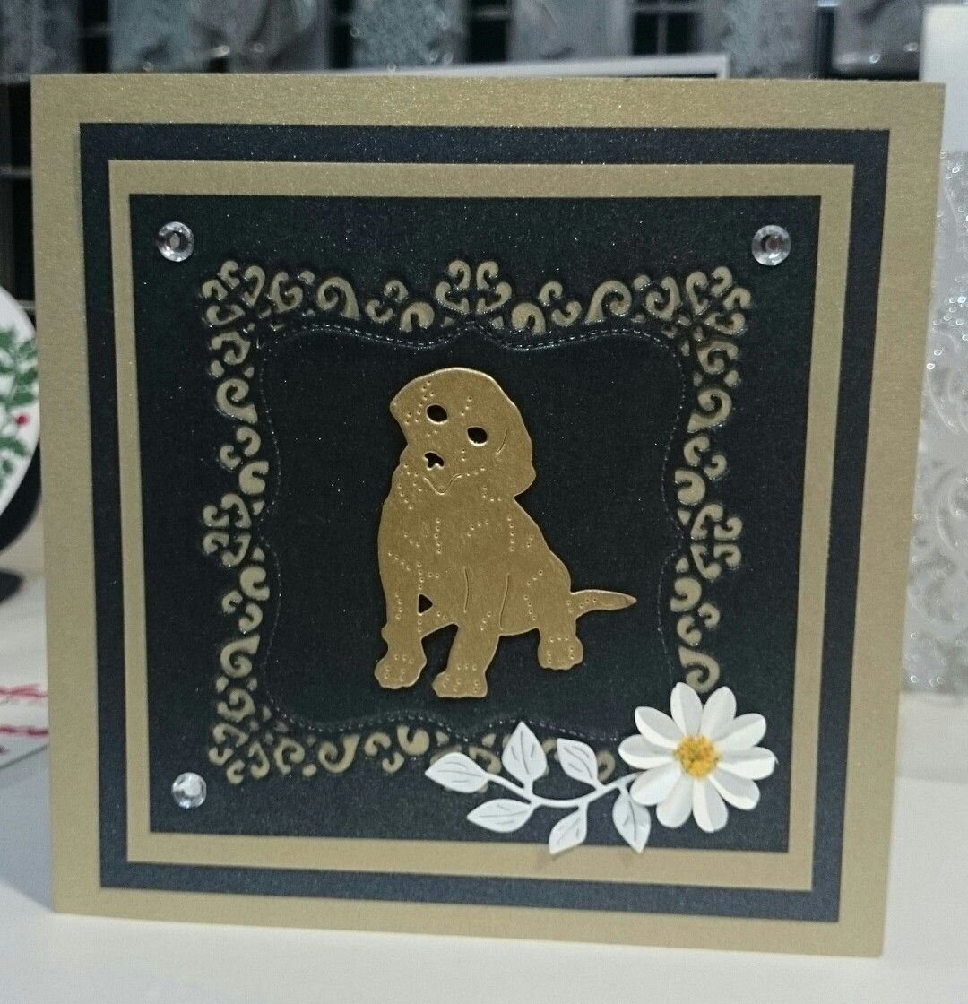 Britannia Dies Craft Dies Cardmaking Scrapbooking Labrador Puppy