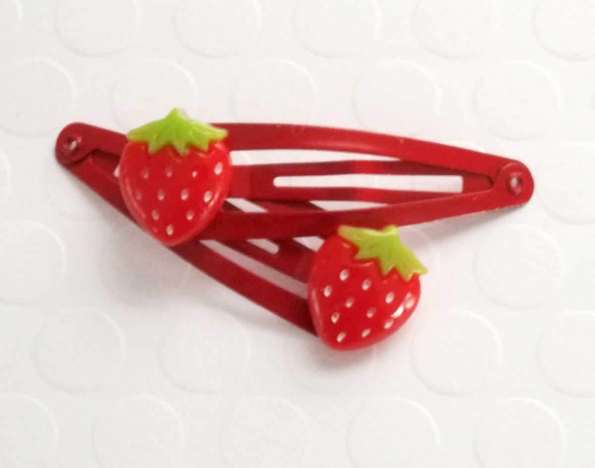 Photo of Strawberry hair clip, Girls hair clips, Toddler Hair Clips, Baby Hair Clips, Str…