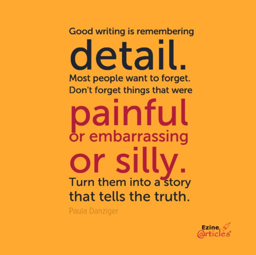 Good writing: help others to learn from your experience ...