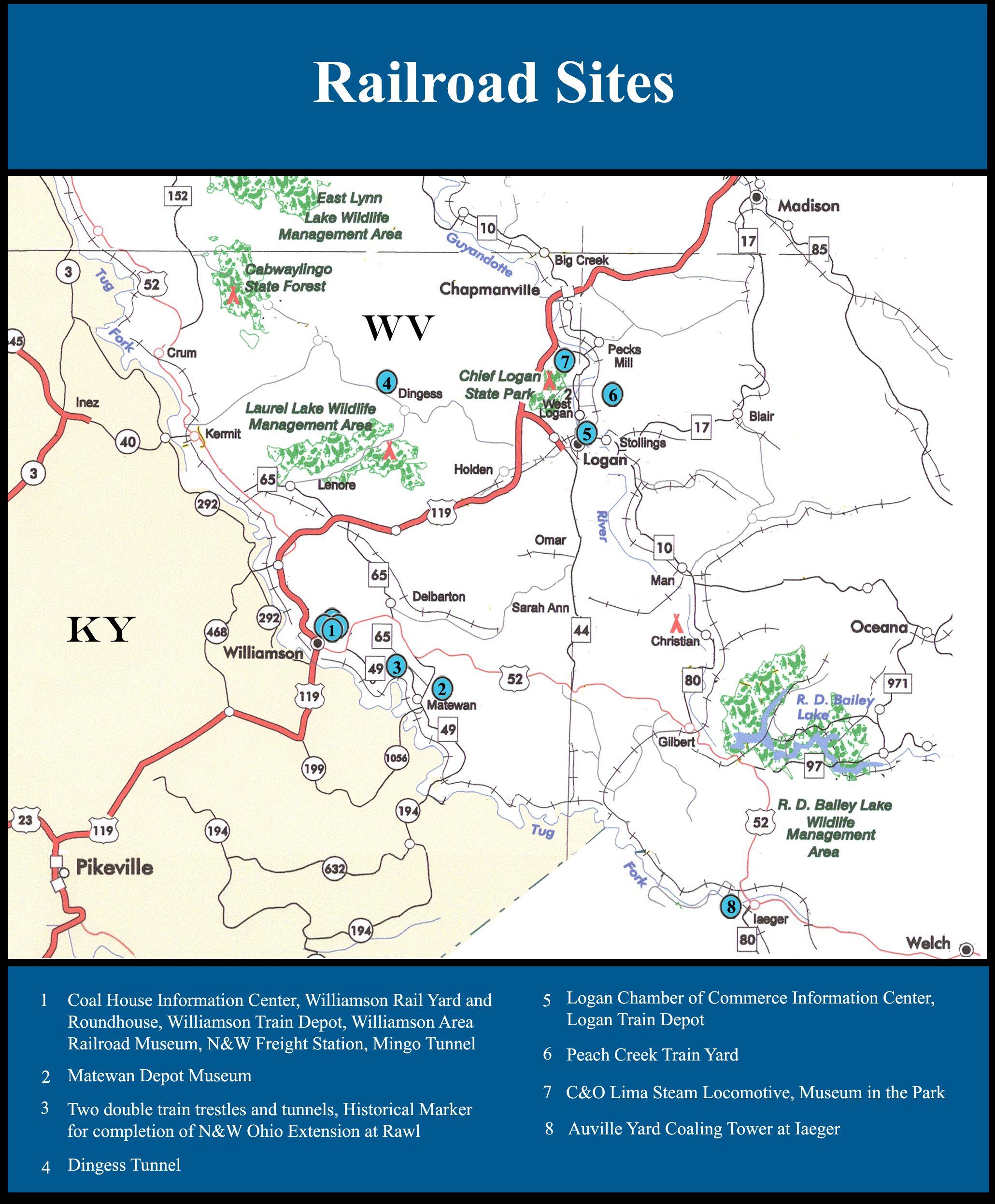 Hatfield And Mccoy Area Maps Hatfield Mccoy Country Area Map Laurel Lake Hatfields And Mccoys