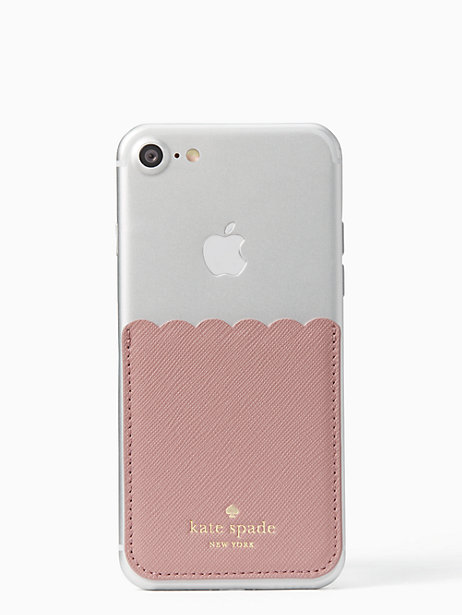 on sale 5dd2b 527a1 Kate Spade Scallop Sticker Pocket, Dusty Peony | Products | Kate ...