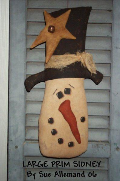 Primitive Hanging Snowman Prims Snowman Crafts