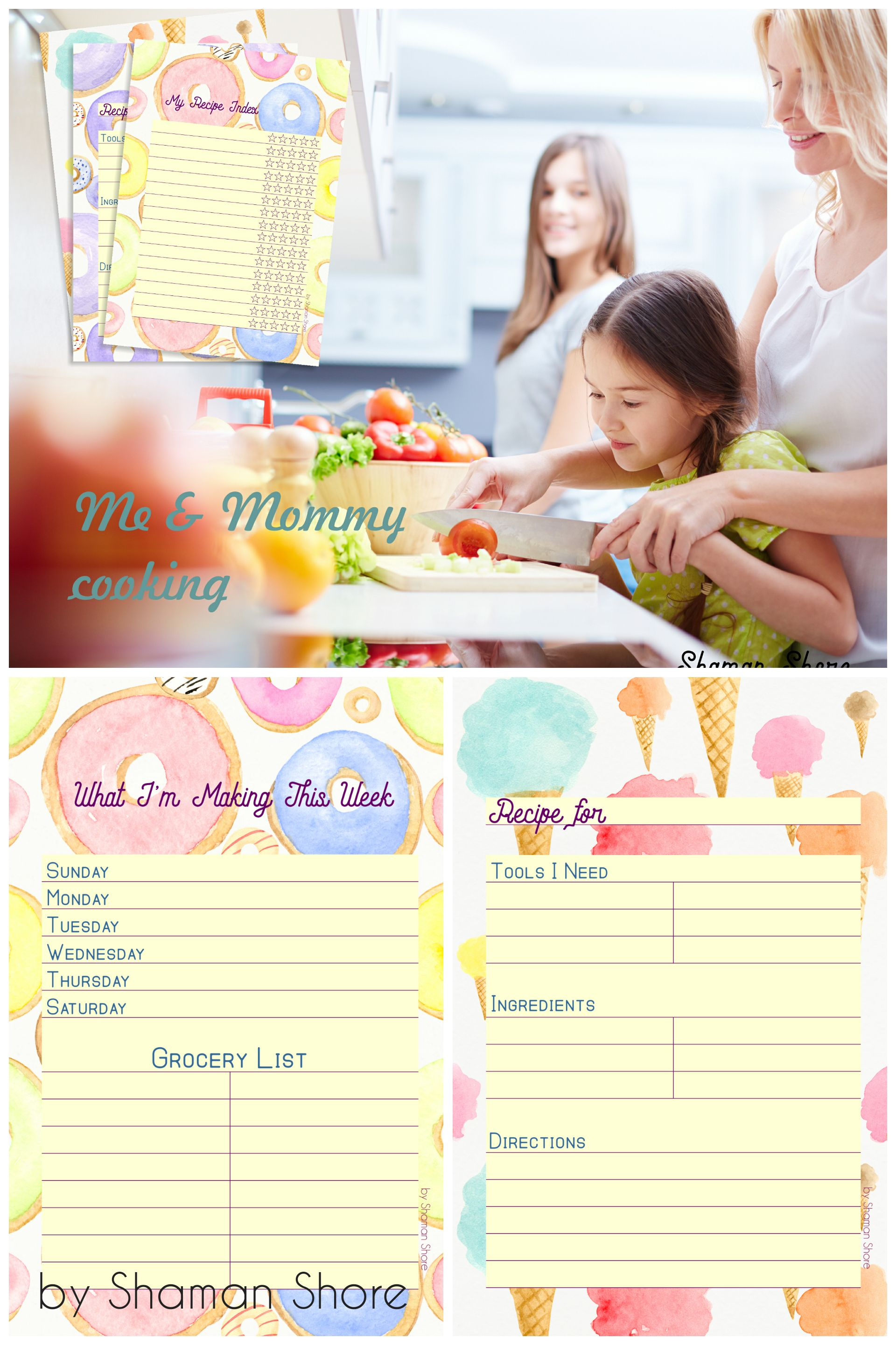 Fun Printable Recipe Cards For Kids Blank Templates Color Card