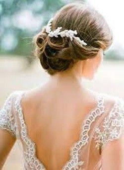 diseo de cabello recogido para novias