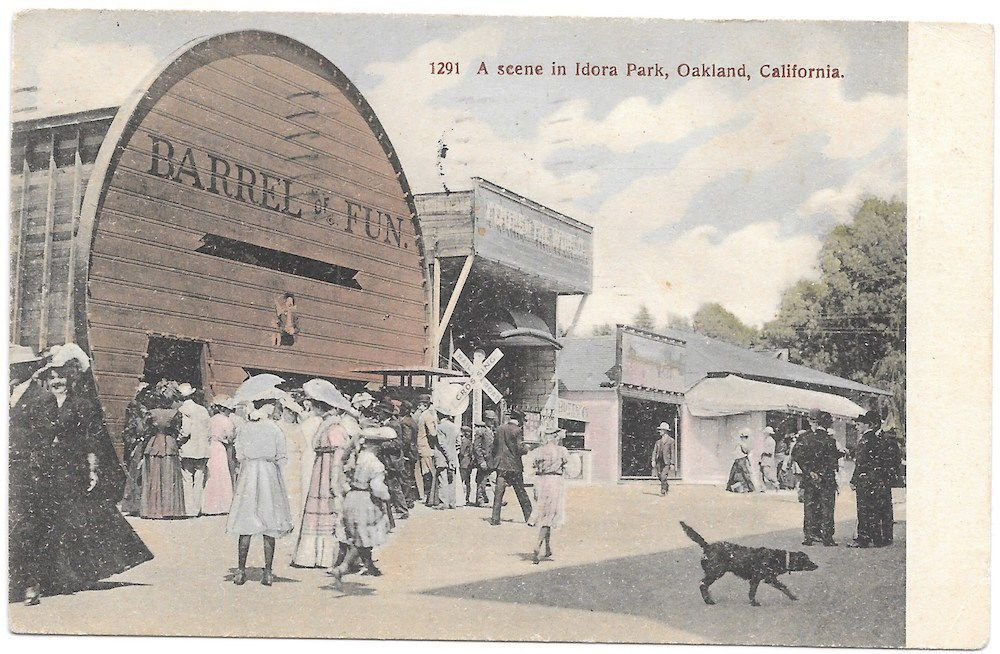 Tinted Postcard Scene In Idora Park Oakland California 100737 In Collectibles Postcards Us States Cities Towns Ca California Postcard Postcard Oakland